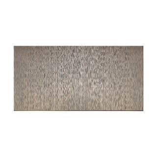 Fasade Vertical Ripple Brushed Nickel 4 Foot X 8 Wall Panel