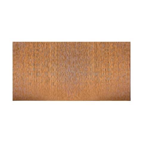 Fasade Vertical Ripple Antique Bronze 4-foot x 8-foot Wall Panel