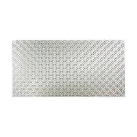 Fasade Rings Brushed Aluminum 4 x 8 ft. Wall Panel