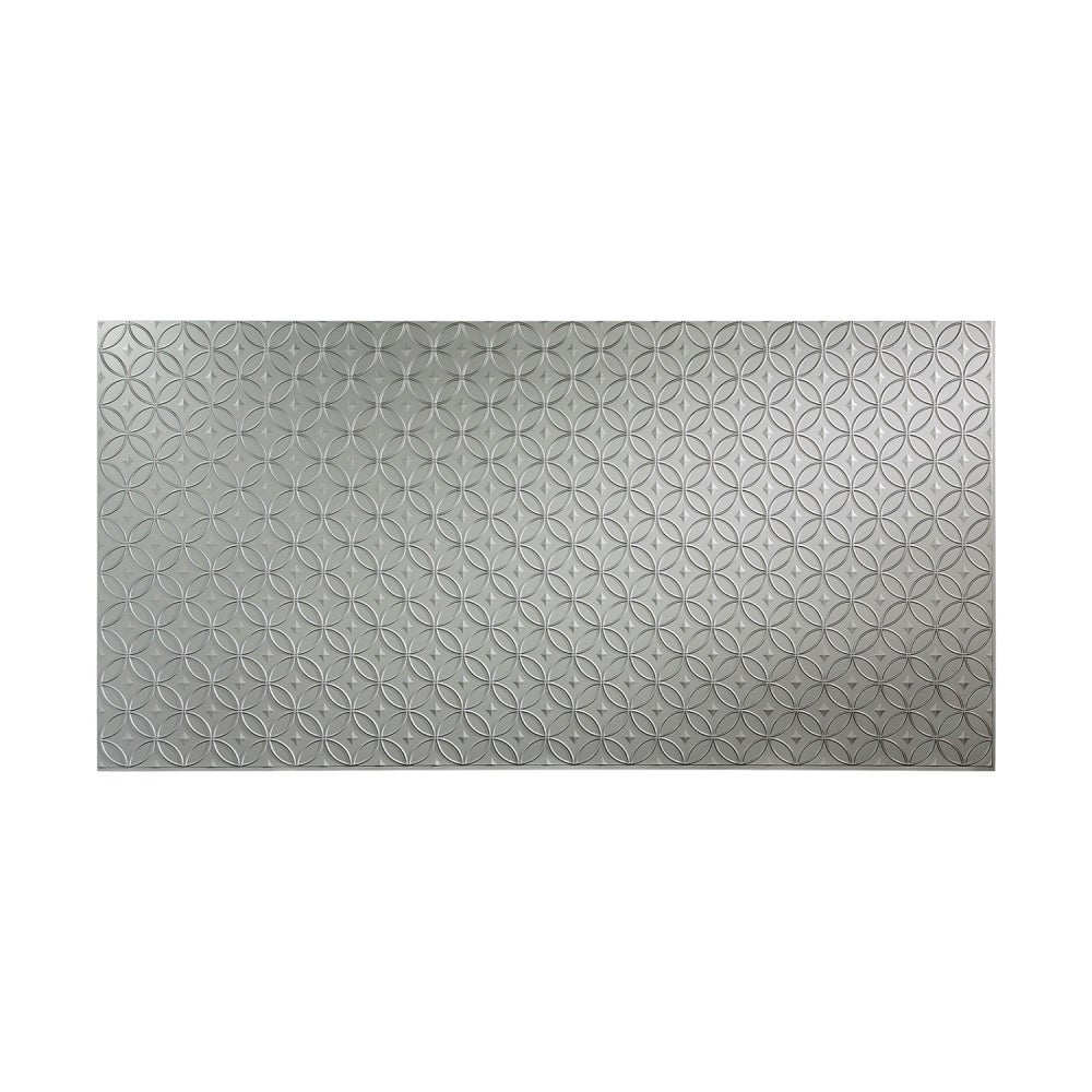 Fasade Rings Argent Silver 4 x 8 ft. Wall Panel (4 x 8)
