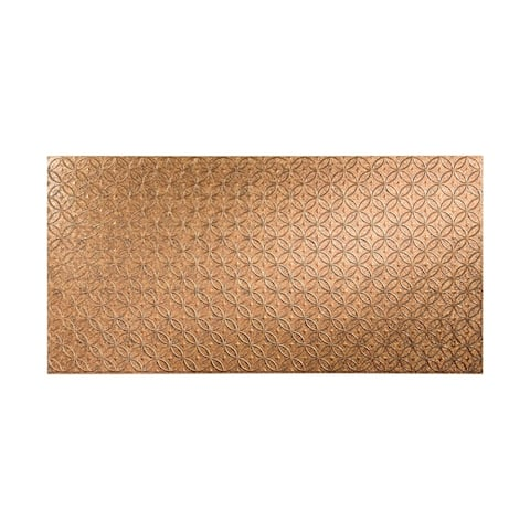 Fasade Rings Cracked Copper 4 x 8 ft. Wall Panel