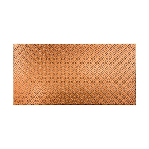 Fasade Rings Polished Copper 4 x 8 ft. Wall Panel
