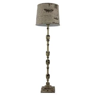 Somette Harlan Weathered White 58-inch Floor Lamp