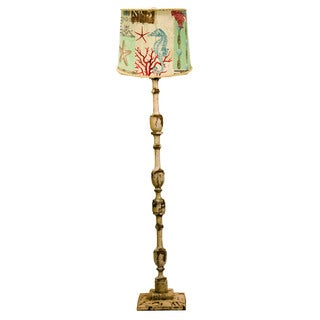 Somette Harlan Weathered Cream 58-inch Floor Lamp