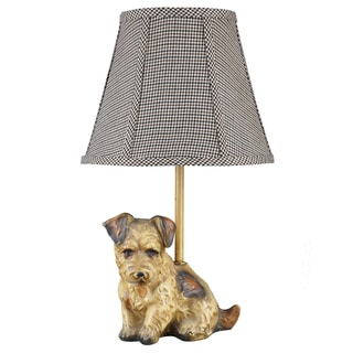 Somette Buddy Dog Brown 16-inch Accent Lamp