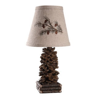 Somette Pinecone Brown 13-inch Accent Lamp