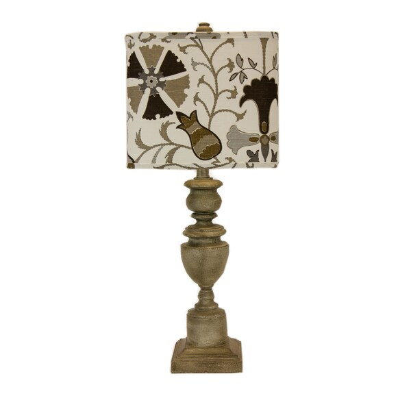 Somette Copen Gold Floral 28-inch Table Lamp