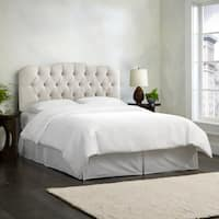 Skyline Furniture Linen-upholstered Talc Diamond Tufted Headboard