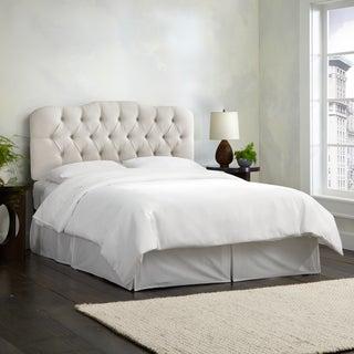 Skyline Furniture Linen-upholstered Talc Diamond Tufted Headboard