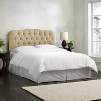 Skyline Furniture Linen Sandstone Tufted Headboard