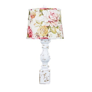 Somette Malaga White 30-inch Table Lamp