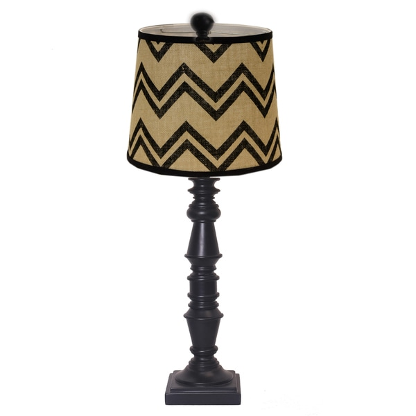 Somette Yorktown Black 27-inch Table Lamp