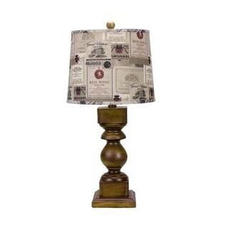 Somette Dakota Pecan Wood Stain 29-inch Table Lamp