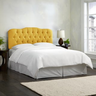 Skyline Furniture Linen French Yellow Tufted Headboard
