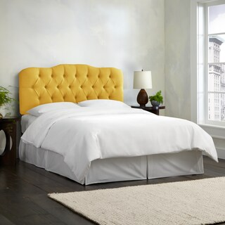 Skyline Furniture Linen French Yellow Tufted Headboard (5 options available)