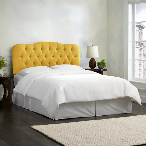 Shop Skyline Furniture Linen French Yellow Tufted