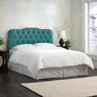 Skyline Furniture Linen Laguna Tufted Headboard