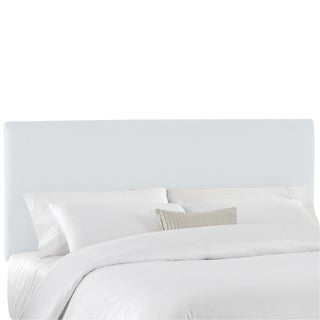 Skyline Furniture Duck White Cotton Twill Upholstered Headboard
