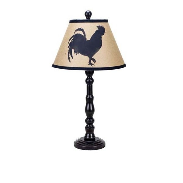 Somette Townsend Black Rooster Silhouette 21-inch Table Lamp