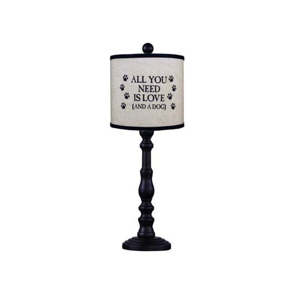 Somette Townsend Black Dog Quote 21-inch Table Lamp