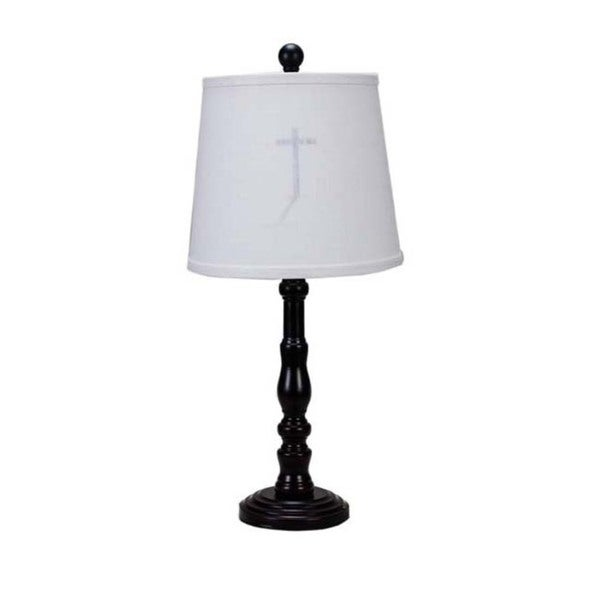 Somette Townsend Black Cross Silhouette 21-inch Table Lamp