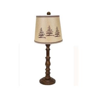 Somette Townsend Brown Lodge 21-inch Table Lamp
