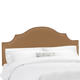 Skyline Furniture Shantung Khaki Nail Button Notched Headboard