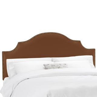 Skyline Furniture Shantung Chocolate Nail Button Notched Headboard