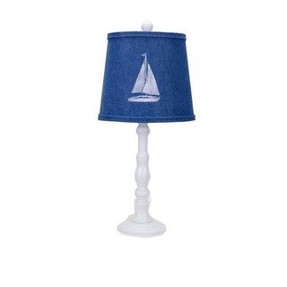 Somette Townsend White Sailboat 21-inch Table Lamp