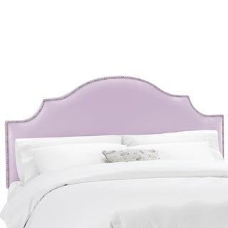 Skyline Furniture Shantung Lilac Nail Button Notched Headboard