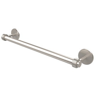 Allied Brass Satellite Orbit Two Collection 30-inch Towel Bar with Groovy Detail