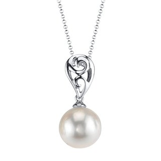 Radiance Pearl 18k Gold White Akoya Pearl Pendant (8.5-9.0mm, 9.0-9.5mm)