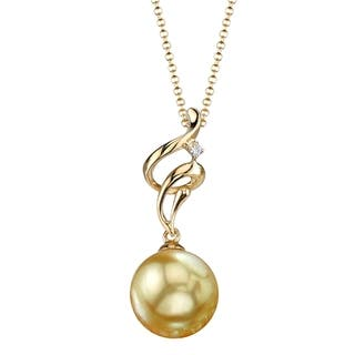 Radiance Pearl 18k Yellow Gold Golden South Sea Pearl Diamond Accent Pendant (9-10mm, 10-11 mm)|https://ak1.ostkcdn.com/images/products/10546488/P17626468.jpg?impolicy=medium