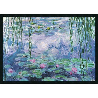 Claude Monet 'Nympheas' Gel Coated Finish Framed Art Print