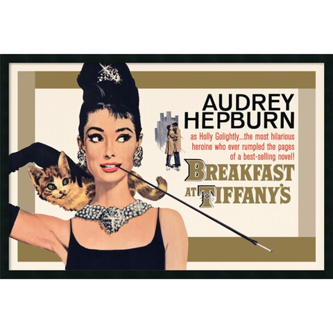 Breakfast at Tiffany's - Gold' Framed 37 x 25-inch Art Print with Gel Coated Finish