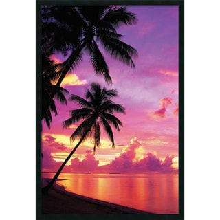 Framed Art Print Tahitian Sunset 26 x 38-inch