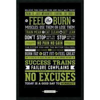 Framed Art Print Gym - Motivational 26 x 38-inch