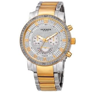 Akribos XXIV Men's Multifunction Stainless Steel Watch with Bracelet