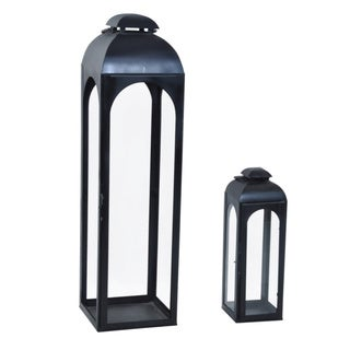 Alliyah 33-inch Handmade Iron Black Lantern