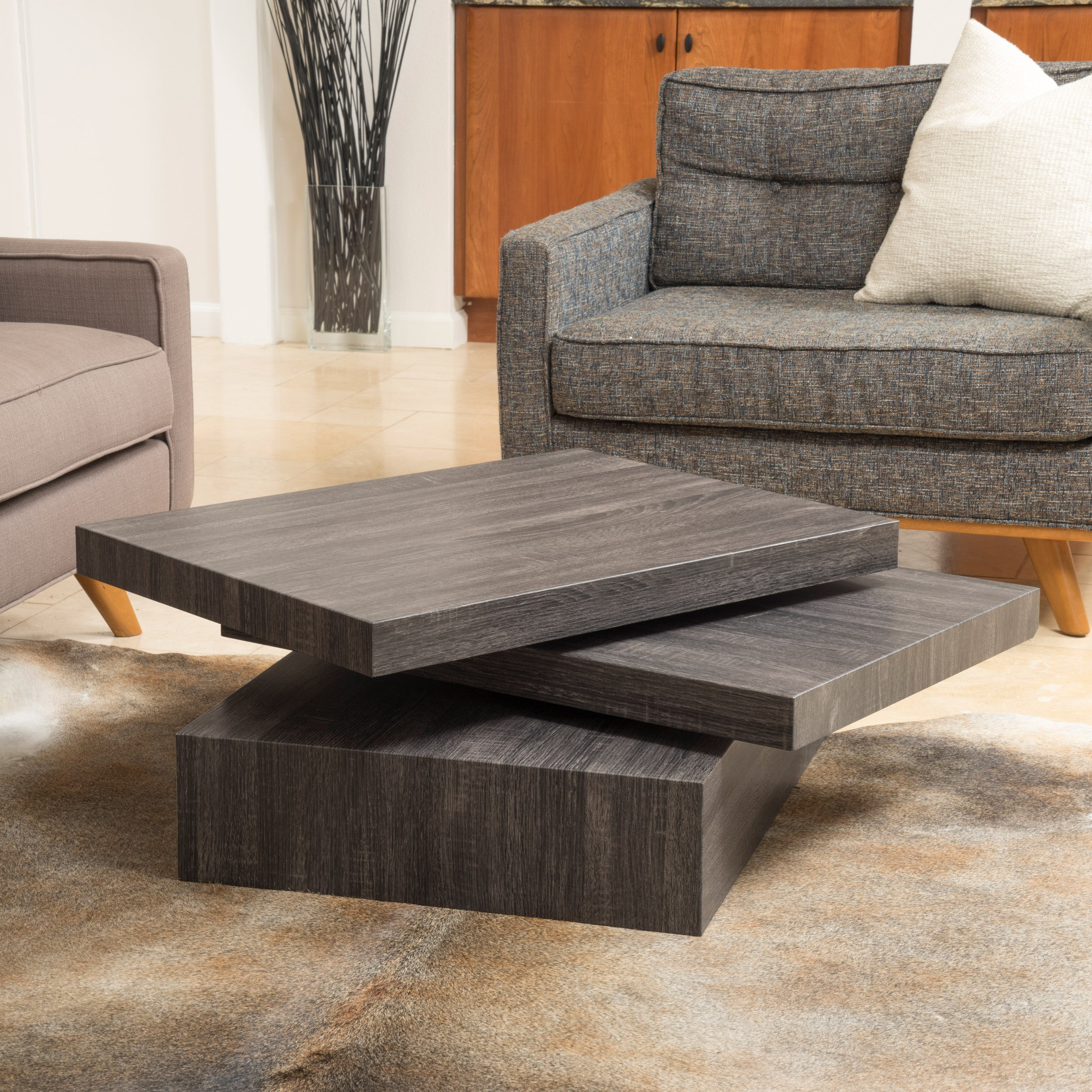 Carson Rotating Wood Coffee Table By Christopher Knight Home On Sale Overstock 10546676