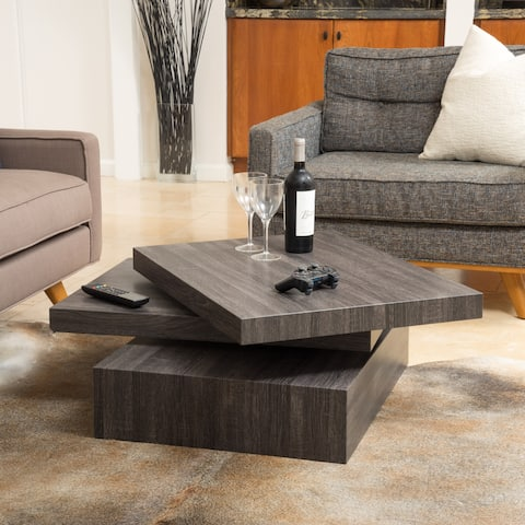 Carson Rotating Wood Coffee Table by Christopher Knight Home