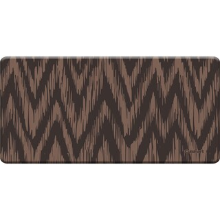 Cuisinart Anti-fatigue Chevron Ikat Toffee Kitchen Mat (20 x 41)