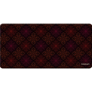 Cuisinart Anti-fatigue Medallion Rust Kitchen Mat (20 x 41)
