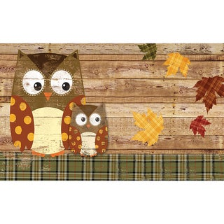 Polytop Weathered Woodland Owls Multi Door Mat (18 x 30)