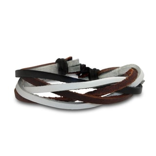 Gioelli Multi-colored Crossover Leather Bracelet