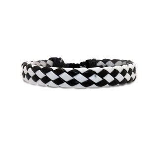 Gioelli Diagonal Leather Adjustable Bracelet