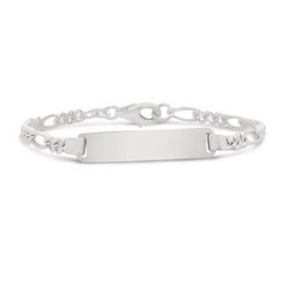Junior Jewels Sterling Silver Children's ID Figaro Link Bracelet