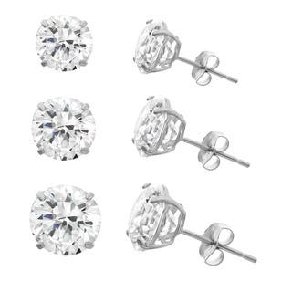 Gioelli 10k White Gold Cubic Zirconia Round Stud Earrings|https://ak1.ostkcdn.com/images/products/10546770/P17626713.jpg?impolicy=medium