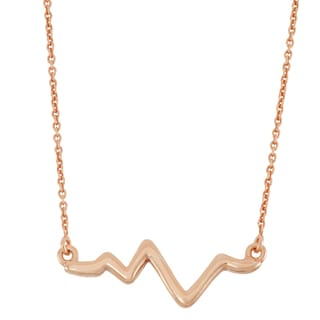 Gioelli 10k Rose Goldplated Silver High Polish Wave Necklace