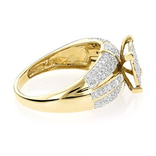 Luxurman 14k Gold 7/8ct TDW Diamond Engagement Ring (H-I, S1I-SI2)